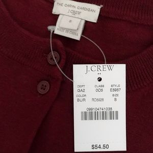 J. Crew Factory Burgundy Caryn Cardigan Sweater